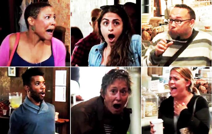 怒りに我を忘れたエスパーが超能力で暴れてカフェ内騒然の表情