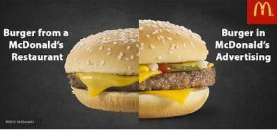 マクドナルドで買ったバーガーは、なんで広告の写真とこんなにも違うのか?